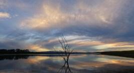 Sunset at Lake Samsonvale.