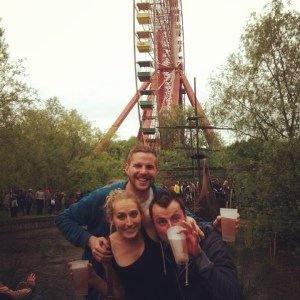 Andy, myself and Benny a bit excited at The XX festy in Spreepark, Berlin..