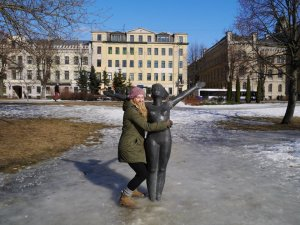 Fun in the snow of Riga - freezing!!