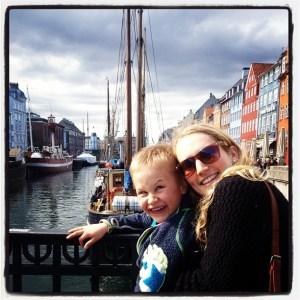 My and the cheeky Oscar in Nyhavn