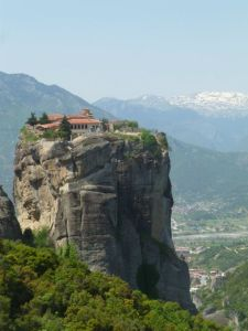The Monastery of the Holy Trinity in Metéora..