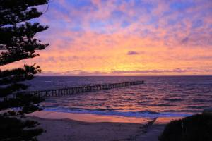 My hometown of Port Noarlunga on the night I arrived back into Australia – magical!