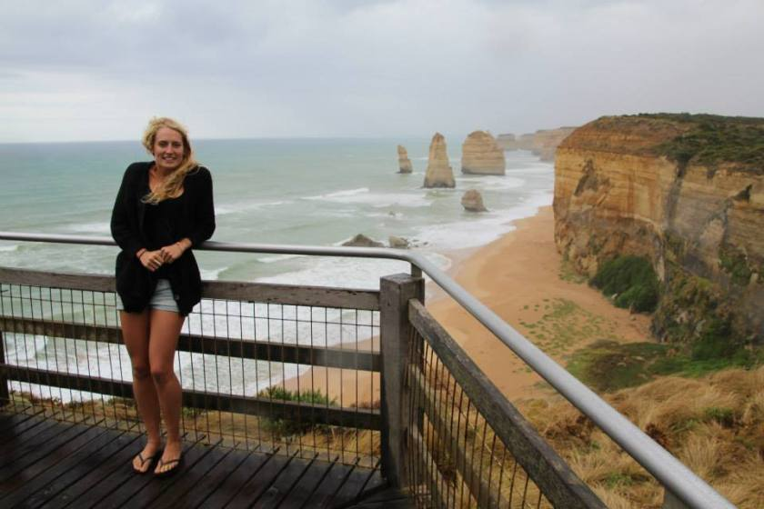 The 'twelve apostles' on the Great Ocean Road (from Melbourne to Adelaide)