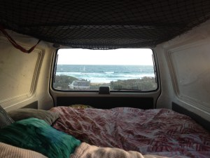 A night away in my friends van - best view to wake up too!!
