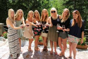 Us girls on the wine tour of the beautiful Tuscany region..