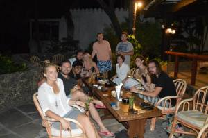A few of the 'Mombasa crew' at the Tamarind for a few 'dawas'