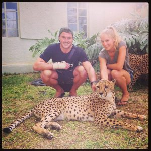 Mitty and I with the cheetahs at Otjitotongwe Cheeetah Park..!!