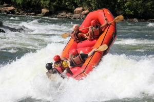 Whitewater rafting along the Nile –fun!