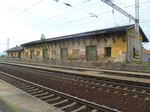 The train station for the Terezin Concentration Camp..