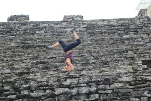 Random headstands on Palenque Ruins..