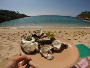 Playa Carrizalillo oysters
