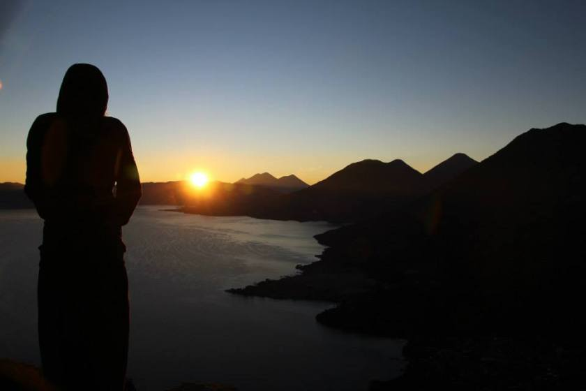 Sunrise over Lake Atitlan from the Indian's Nose..