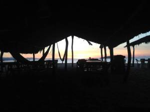 Sunrise from the hammocks...