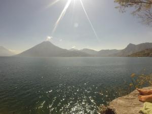 Looking over Lake Atitlan from San Marcos..