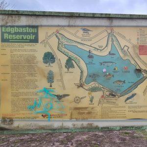 Map of Edgbaston Reservoir highlighting local wildlife