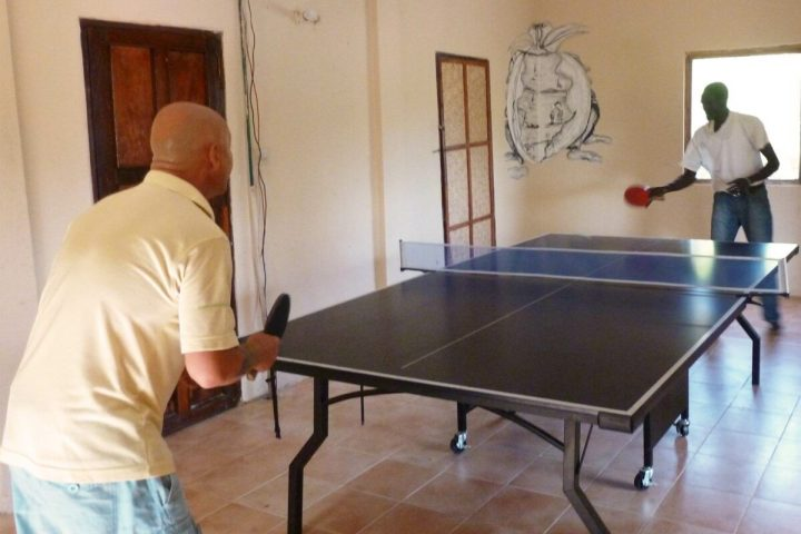 Gambia activities | free sports at Footsteps | table tennis