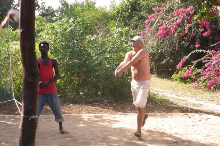 Gambia activities | free sports at Footsteps | volleyball