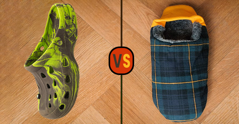 Difference Between House Shoes and Slippers FI