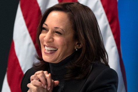 Kamala Harris Masters the Monochrome Trend in Her Go-To Suit With the Perfect Pointed-Toe Booties