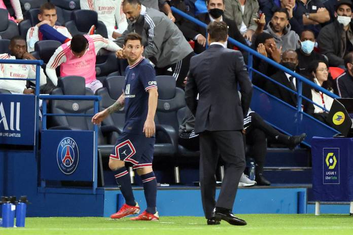 This announcement comes after Pochettino's decision to take off the Paris Saint-Germain megastar during the comeback win over Lyon last week which grabbed all the headlines after Messi snubbed a handshake from his manager .