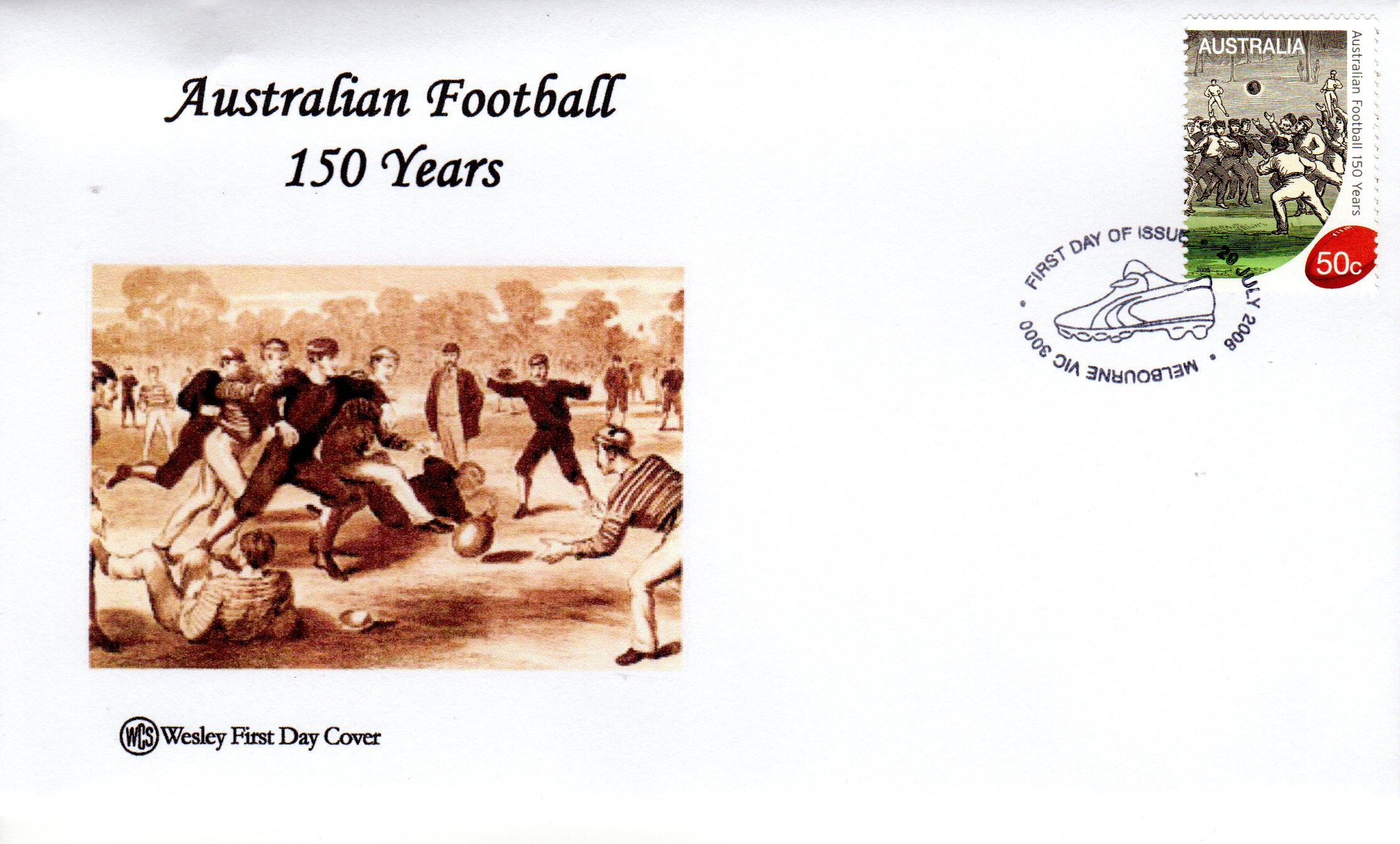 WCS FDC 150 Years of Australian Football
