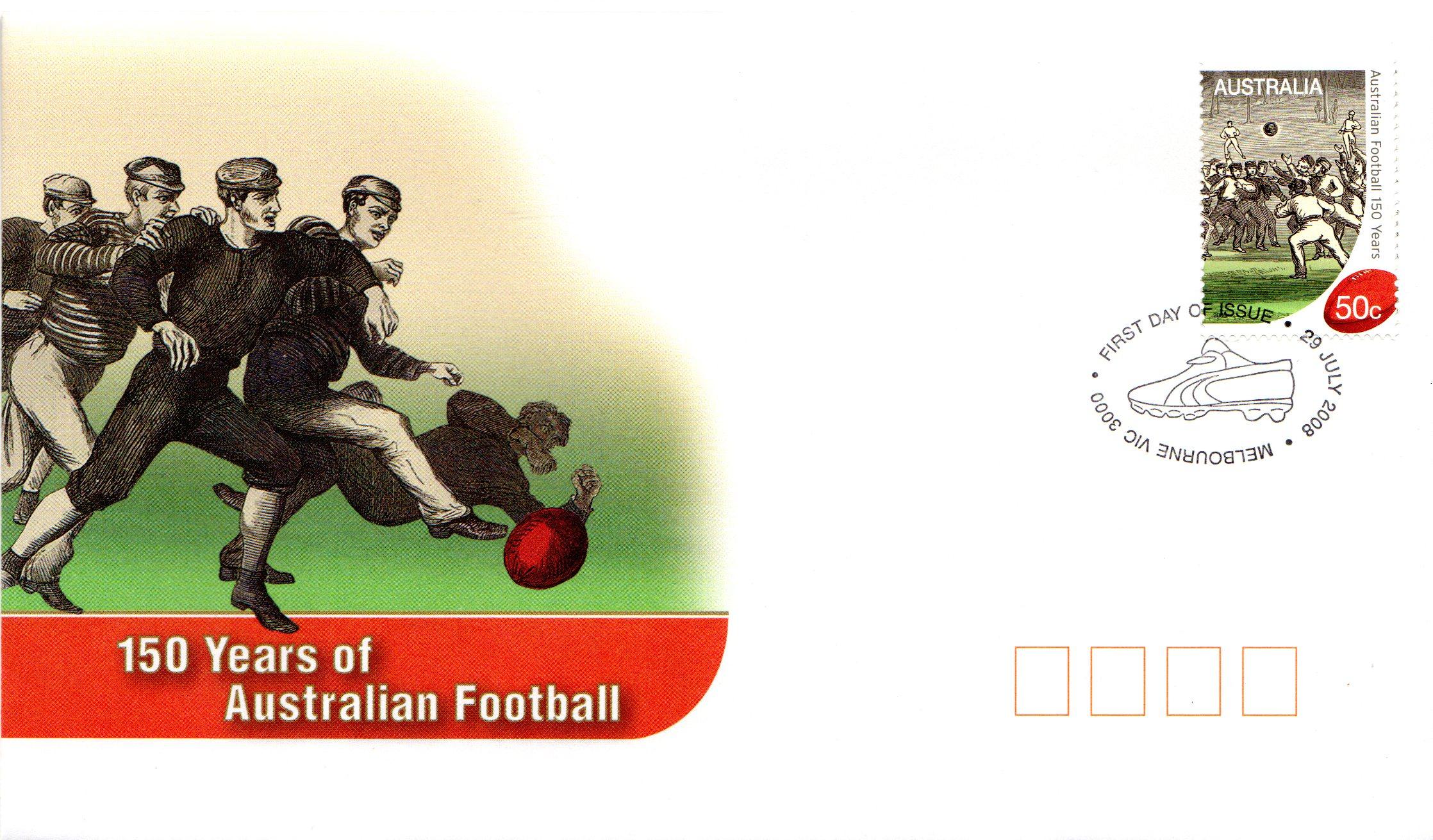 AP FDC 150 Years of Australian Football
