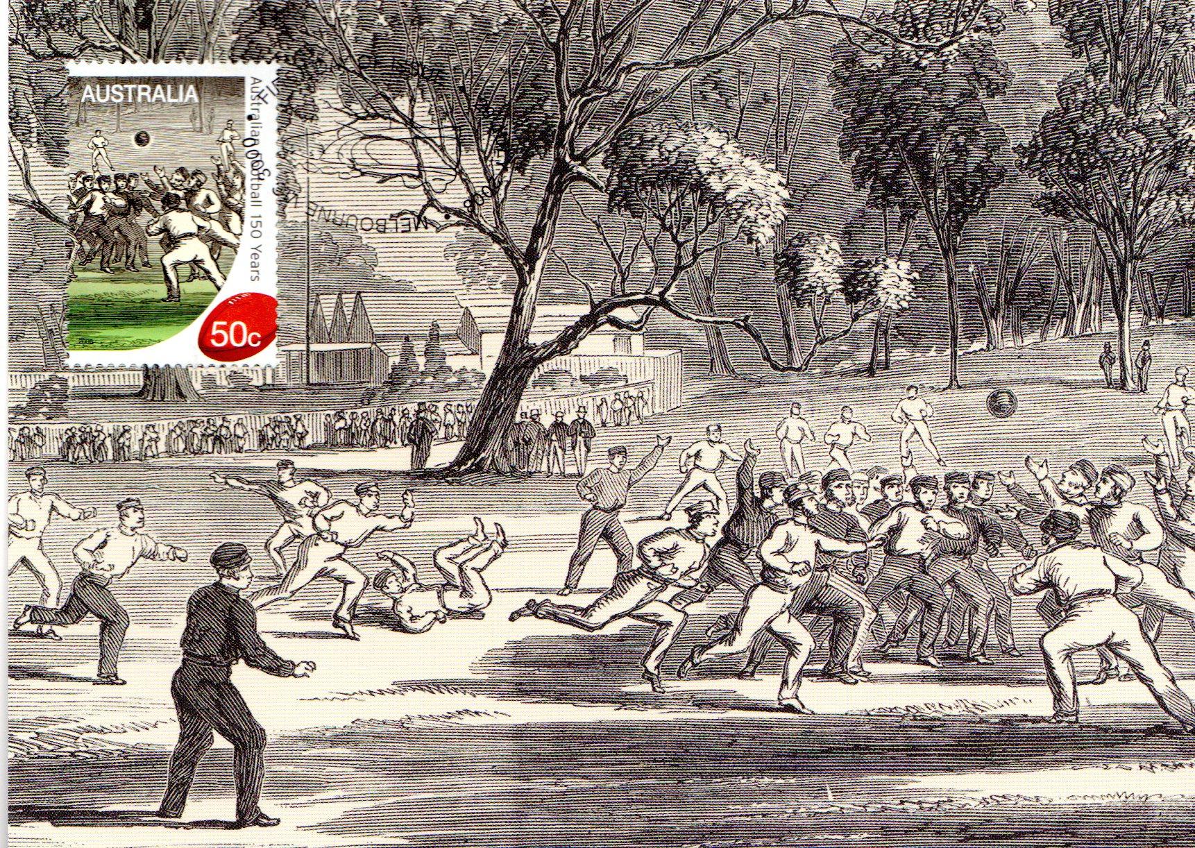 Maxi Card 150 Years of Australian Football