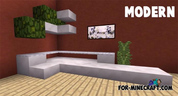 Sofa Ideas In Game Furniture Minecraft PE 11