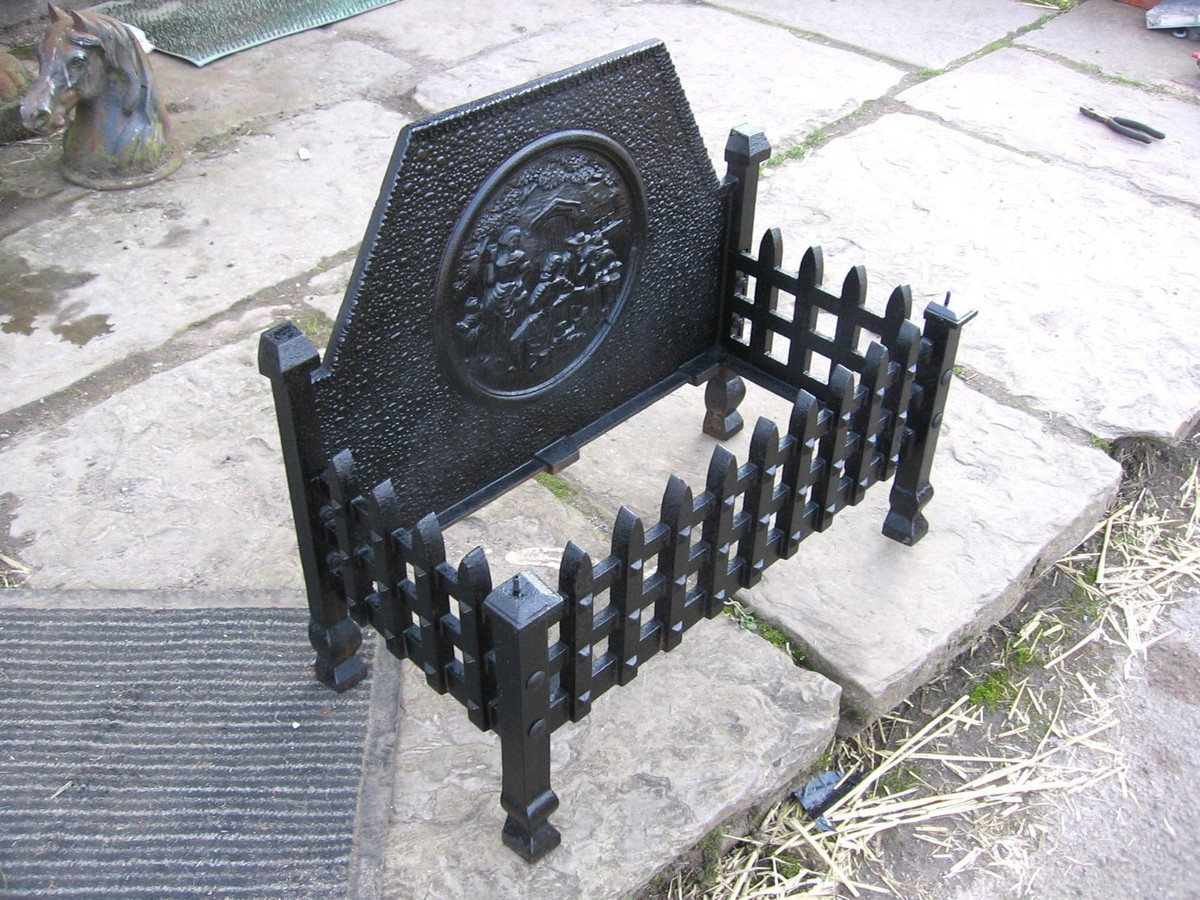 Secondhand Vintage And Reclaimed Miscellany Cast Iron Fire Grate Preston Lancashire