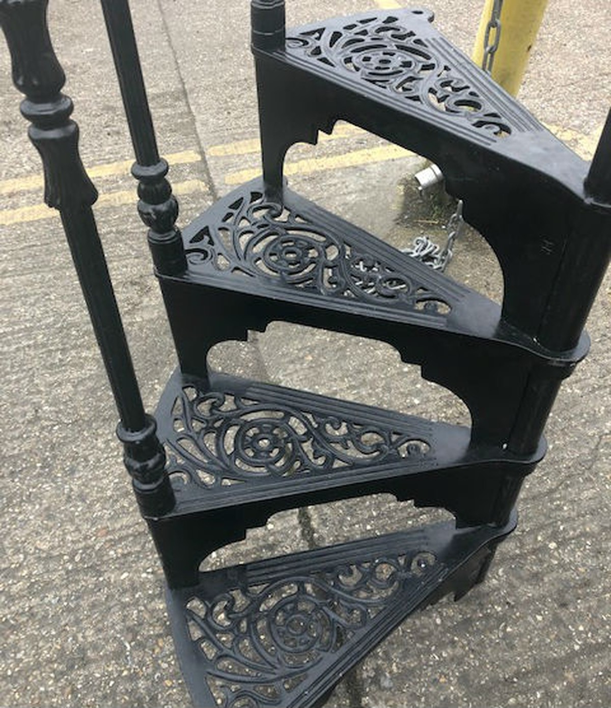 Secondhand Vintage And Reclaimed Staircases 12 Spiral   Reclaimed Spiral Staircase For Sale   Architectural Antiques   Wrought Iron Spiral   Architectural Salvage   Reclaimed Antique   Railing