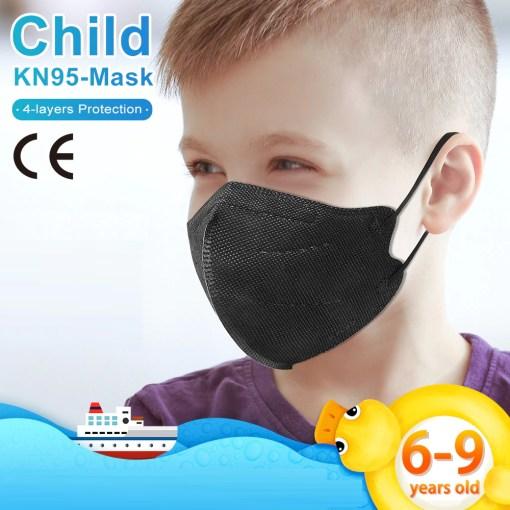 KN95 para niño 6-9 negro