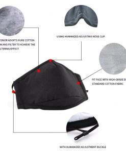 mascarilla de algodon negra