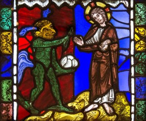 Jesus being tempted by the Devil. Image by  Fr Lawrence Lew OP, Creative Commons licence CC BY-NC-ND