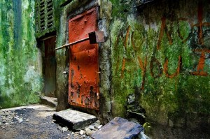 As a child, Rabbie played in the alleyways by his home on Benson Street, one of Monrovia's main thoroughfares and the site of fierce fighting during the civil war. Photo by Cameron Zohoori, Creative Commons licence CC BY-NC