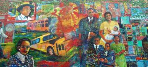 Montgomery Bus Boycott mural. Image by Damian Entwistle, Creative Commons licence CC BY-NC