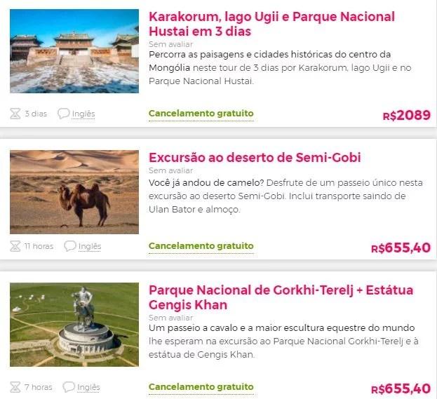 Melhores atrações Mongólia