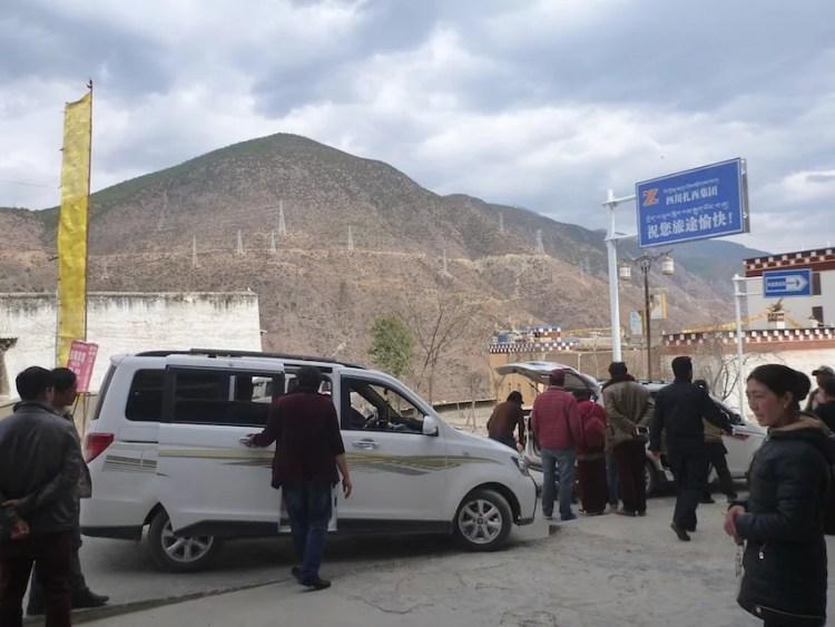 Taxi entre Xiangcheng e Litang na China / Tibete