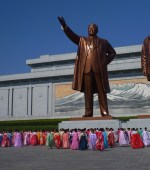 Estatuas dos líderes Coreia do Norte