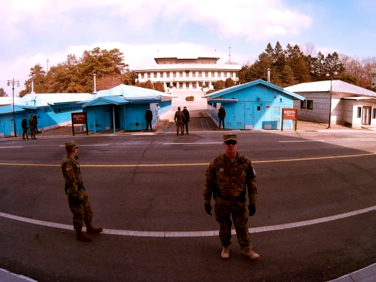 American soldiers at the DMZ