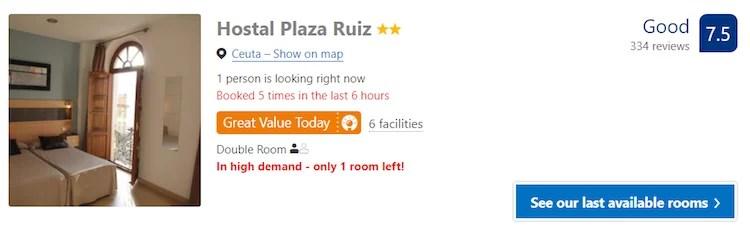 Hotel em Ceuta