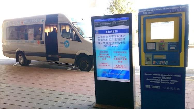 ônibus do aeroporto de Minsk