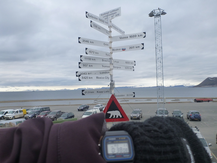 Placa sinal famoso Svalbard