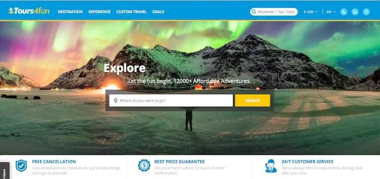 Maior site para pesquisar excursões