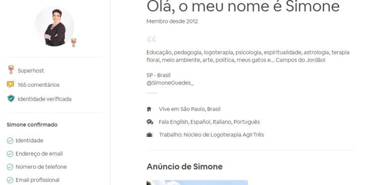 perfil do anfitrião airbnb