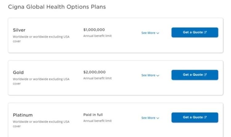 planos de seguro saúde internacional cigna