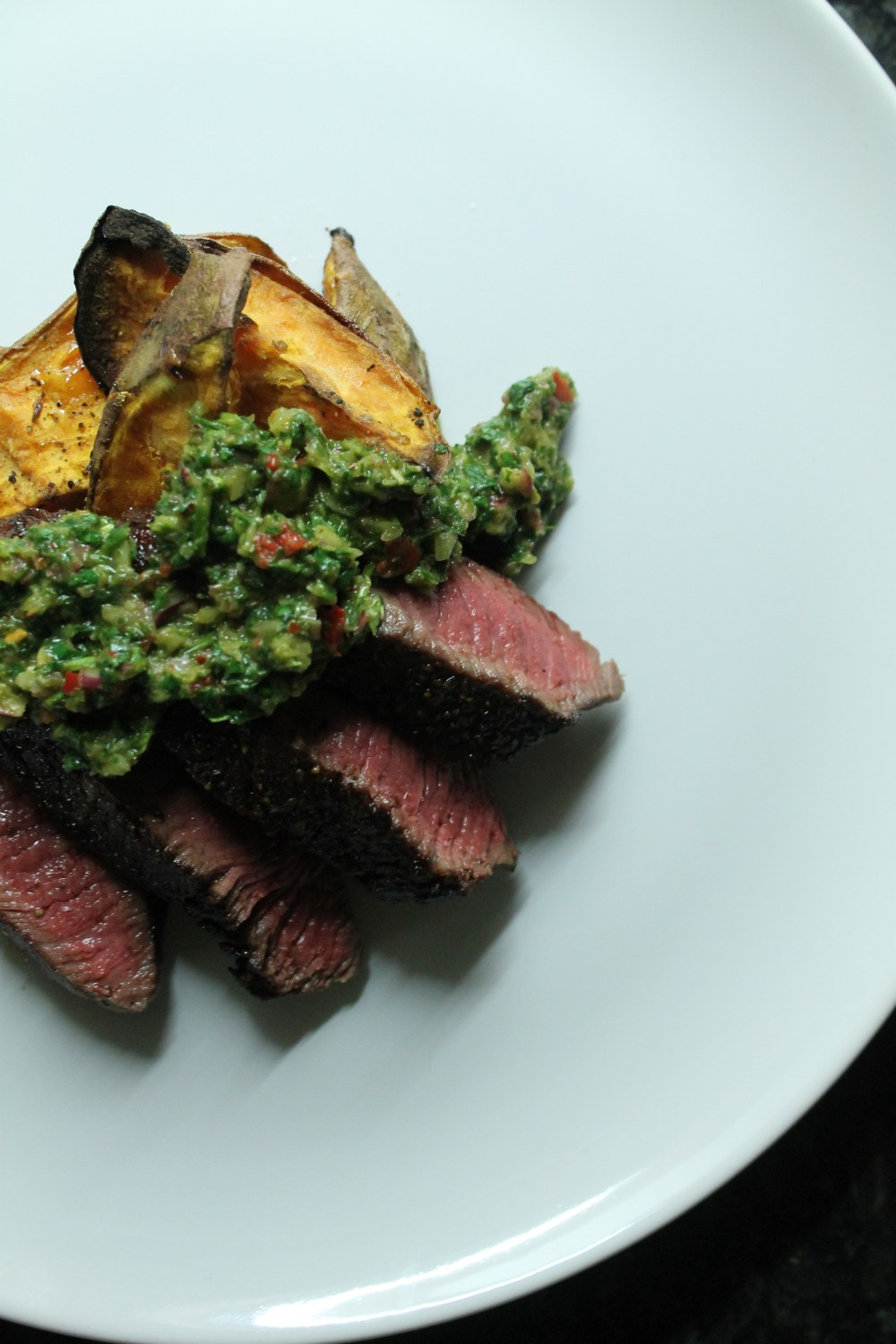 Rump Steak, Herb Fire Sauce