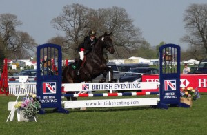 Jo and Devon loving the show jumping at Badminton Grass Roots 2013