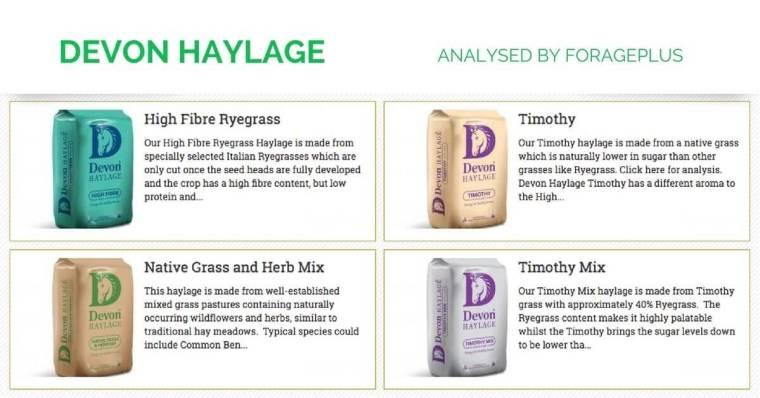 Devon Haylage analysed by Forageplus