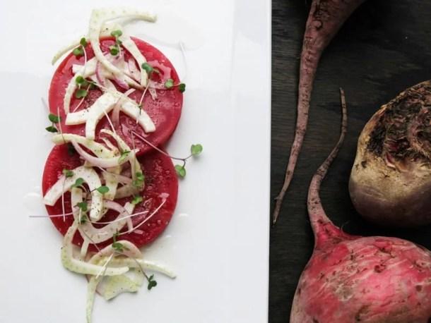 roasted beets, fennel salad,