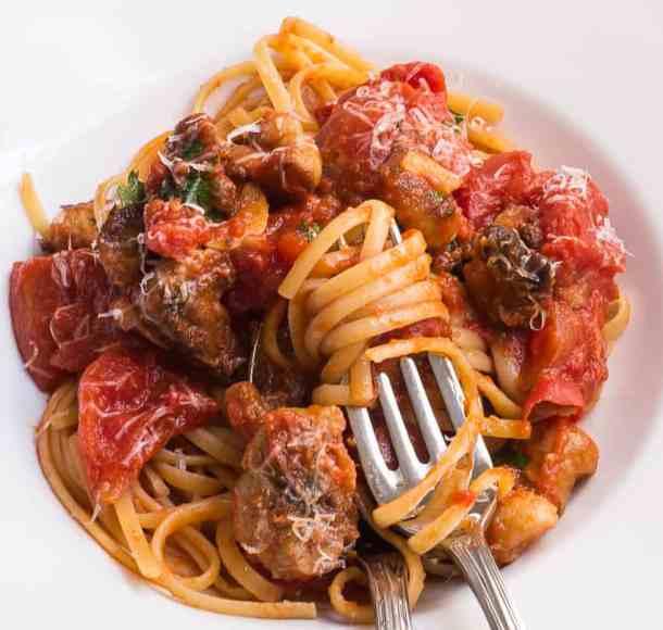 aborted entoloma mushroom pasta recipe